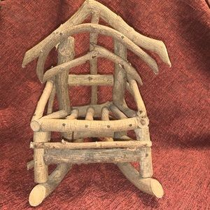 Handcrafted Rustic twig chair